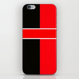 Team Colors 6...red,black,white iPhone Skin