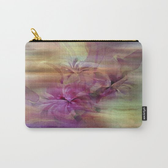 Sunset Painterly Floral Abstract Carry-All Pouch