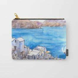 Greece ink & watercolor illustration Carry-All Pouch