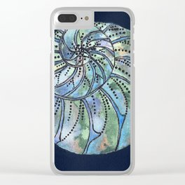 Dreaming Shell Clear iPhone Case