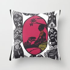African Masks Throw Pillow