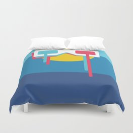 3D Sun Glasses Duvet Cover