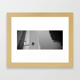 way out in the water... Framed Art Print