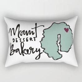 Mount Dessert Bakery Logo Rectangular Pillow