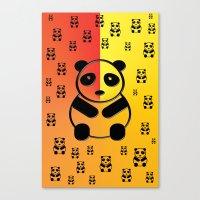 pandas Canvas Prints featuring Pandas by Gaspar Avila