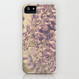 Spring Floral -- Wisteria Lane, Softly -- Vintage Garden -- Lavenders, Purples and Orchids iPhone Case
