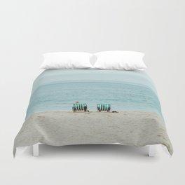 beach seats Duvet Cover