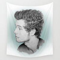 luke hemmings Wall Tapestries featuring Luke by Drawpassionn