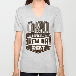Official Brew Day Craft Beer Home Brewing Unisex V-Neck