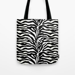 Wild Animal Print, Zebra in Black and White Tote Bag