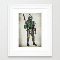 boba fett Framed Art Prints featuring Boba Fett by Ayse Deniz