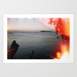 Film Burn Australia Island Art Print