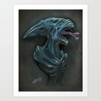 xenomorph Art Prints featuring Xenomorph by Jessica Jeansoulin Artworks (AngoriA)