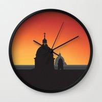 italy Wall Clocks featuring Italy by Nove Studio