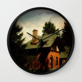 Cemetery Cottage Wall Clock