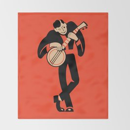 The Banjoist Throw Blanket