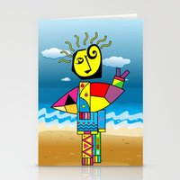surfer Stationery Cards featuring Surfer by Moisés Ferreira