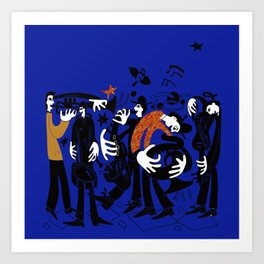 A group of dancers. Art Print
