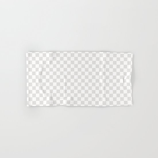 Checker (Platinum/White) Hand & Bath Towel