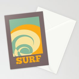 Surf Abstract Wave Stationery Cards