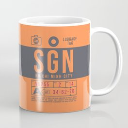 Baggage Tag B - SGN Ho Chi Minh City Vietnam Coffee Mug