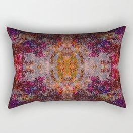 Aranda - Abstract Boho Chic Tie-Dye Style Symmetric Mandala Art Rectangular Pillow