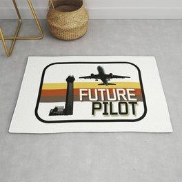 Future Airplane Pilot Rug