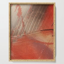 Gemstone #3: a textured, abstract piece with a hint of gold by Alyssa Hamilton Art Serving Tray
