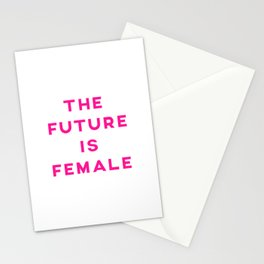 The Future Is Female Aesthetic Stationery Cards