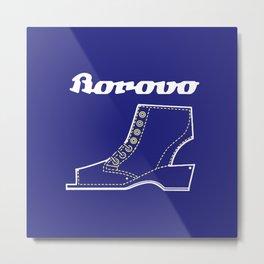 Borosana Borovo -  white nostalgic ortopedic shoe from Yugoslavia Metal Print