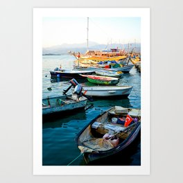 Turkish Boats Art Print