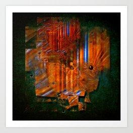 Abstract fields Art Print