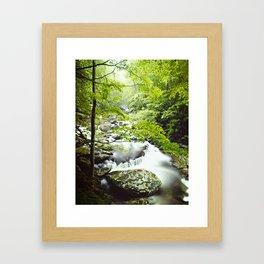 Smoky Mountain River Framed Art Print