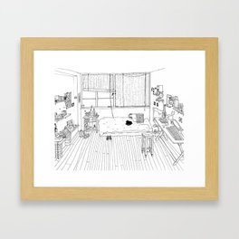 My room Framed Art Print