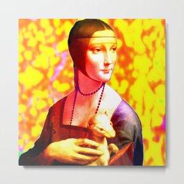 Dama con l'Ermellino Metal Print