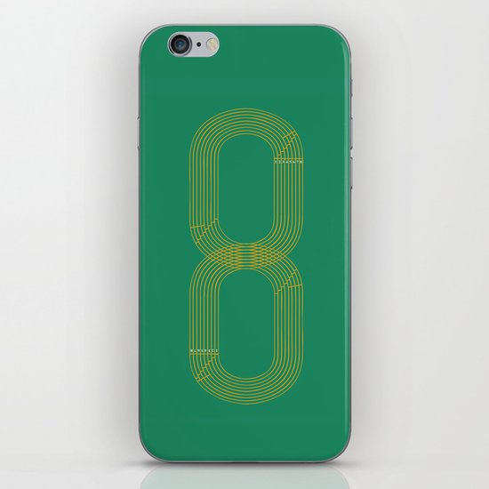 Eight track - runners never quit iPhone & iPod Skin