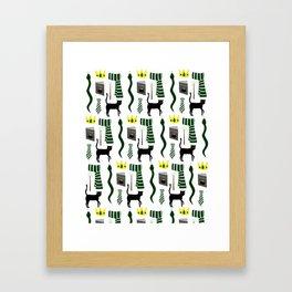 The House of Slytherin Pattern Framed Art Print