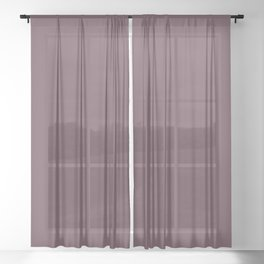 Dark Plum, Solid Color Collection Sheer Curtain
