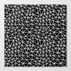 Seg R Black Canvas Print