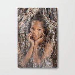 Woman Tree Metal Print
