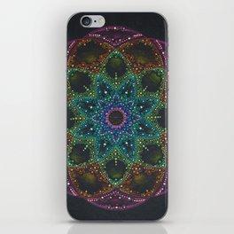 Bright colorful Mandala iPhone Skin