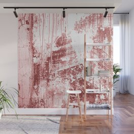Grungy Wall,rusty red Wall Mural