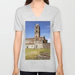 OLD CHURCH - SARDINIA - ITALY Unisex V-Neck