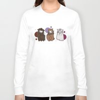 nori Long Sleeve T-shirts featuring Dwarpaca family #3 by Lady Cibia