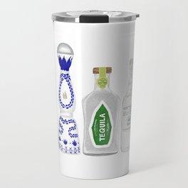 Tequila Bottles Illustration Travel Mug