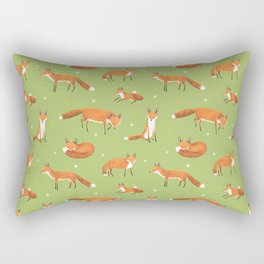 Red Foxes Rectangular Pillow
