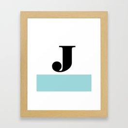 Monogram Letter J-Pantone-Limpet Shell Framed Art Print