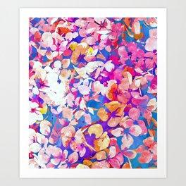 Floral Abundance #painting #floral Art Print