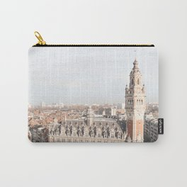French Houses And Church From Above Photo | City Of Lille Art Print | France Europe Travel Photography Carry-All Pouch