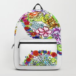 flowers in the heart Backpack